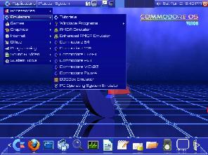Commodore OS menu