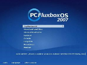 PCFluxboxOS live cd menu