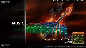 XBMC playing music