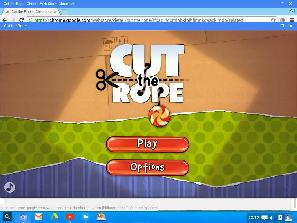 Cut the rope game in Cub linux